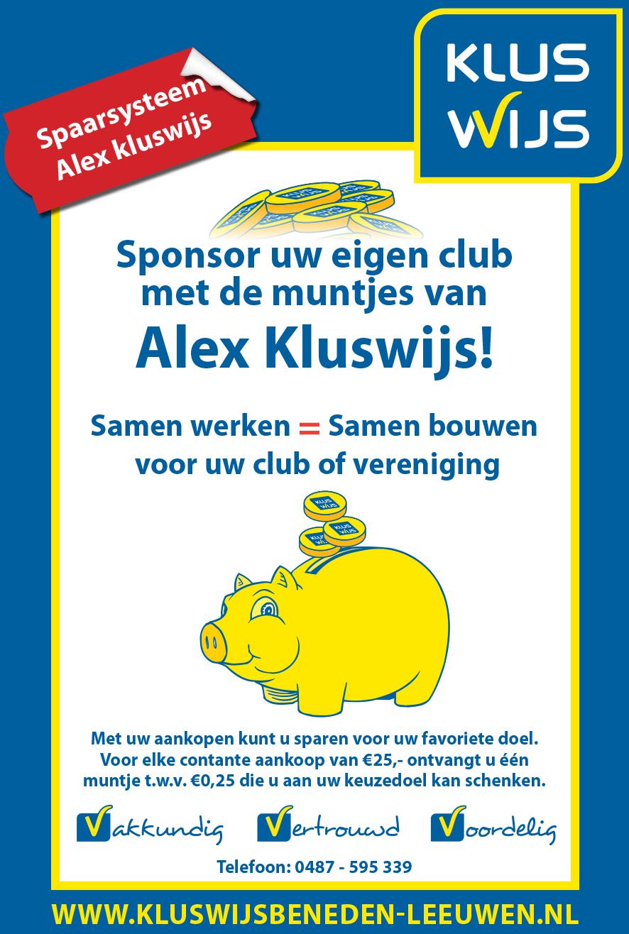 Spaarkas  Alex Kluswijs deze week uitgekeerd aan de Vreugdefabriek
